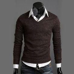 uninukoo - V-neck Knit Top