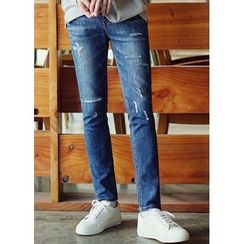 JOGUNSHOP - Distressed Slim-Fit Jeans
