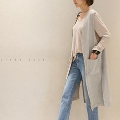 NANING9 - Linen Long Vest