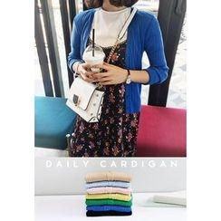 Miamasvin - Colored Rib-Knit Cardigan