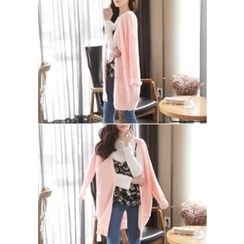 MyFiona - Open-Front Long Cardigan