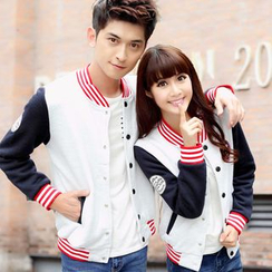 Igsoo - Couple Matching Baseball Jacket