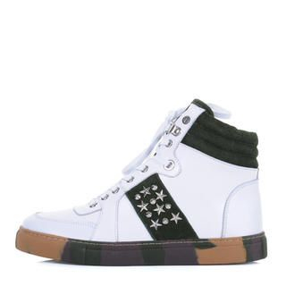 deepstyle - Genuine Leather High-Top Sneakers