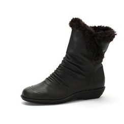MODELSIS - Genuine Leather Shirred Ankle Boots