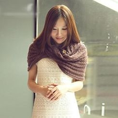 Thantrue - Textured Knit Circle Scarf