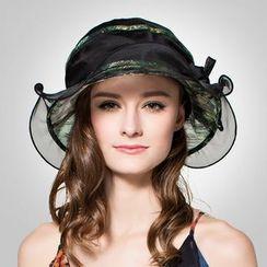 BADA - 提花真丝遮阳帽