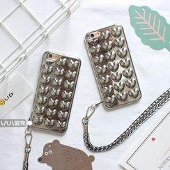 Hachi - 压纹心心手机壳 - iPhone 7 / 7 Plus / 6s / 6s Plus