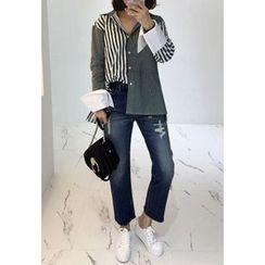 Miamasvin - Striped Cotton Shirt