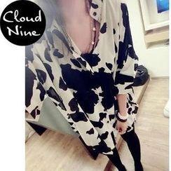 Cloud Nine - Print Oversized Chiffon Blouse