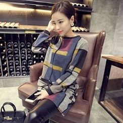 Eva Fashion - Patterned Knit Dress