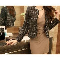 Marlangrouge - Check Tweed Jacket