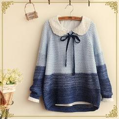 布衣天使 - 插色通花毛衣