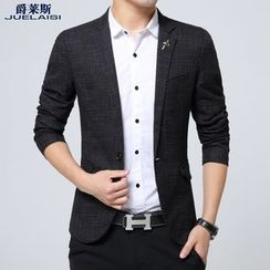 Jazz Boy - Notched-Lapel Single-Button Blazer