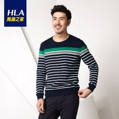 Heilan - Striped Long Sleeve T-Shirt