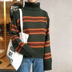 Parc - Striped Turtleneck Sweater