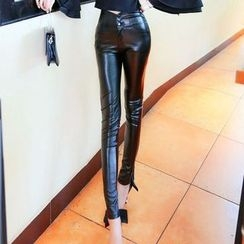 Phyllis - Faux Leather Skinny Pants