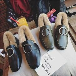 Hipsole - Faux-Fur Panel Loafers