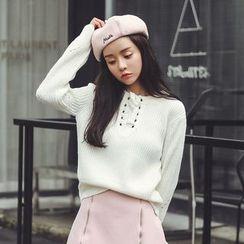 Ashlee - Cross Neck Sweater