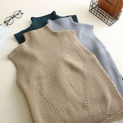 Mushi - Mock Neck Knit Vest