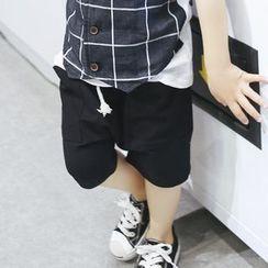 柠檬嘟嘟 - 小童纯色短裤
