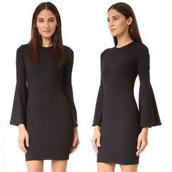 Chika - Long-Sleeve Sheath Dress