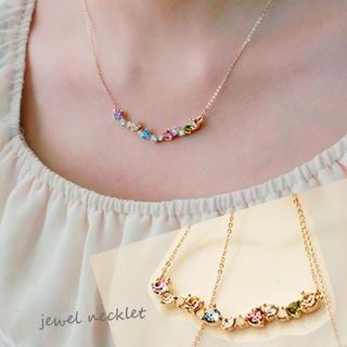 Clair Fashion - Rhinestone Short Necklace