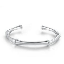 Bling Bling - Bling Bling Platinum Plated 925 Silver Bangle (53mm)