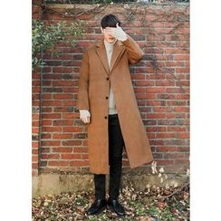 GERIO - Single-Breasted Long Coat