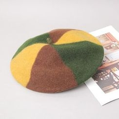 Cherryville - Color-Block Beret