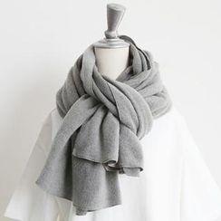 NANING9 - 素面針織圍巾