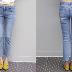 NANING9 - Distressed Skinny Jeans