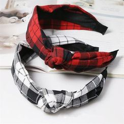 Miss Max - Plaid Knot Hairband