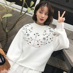 Dute - Flower Embroidered Pullover