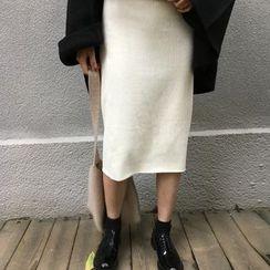 Dasim - Corduroy Midi Skirt