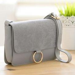 LineShow - Faux Leather Shoulder Bag