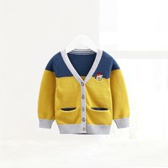 ciciibear - Kids Colour Block Cardigan