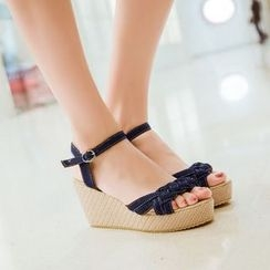 Pastel Pairs - Platform Wedge Sandals