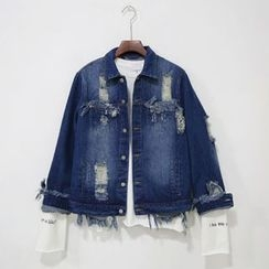 Mr. Cai - Distressed Denim Jacket