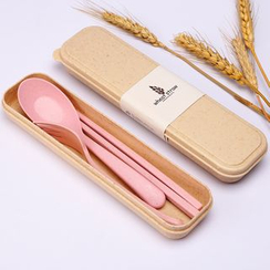 Milena - Travel Cutlery Set: Chopsticks + Spoon + Fork