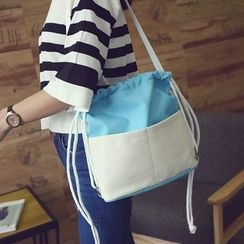 Seok - Two Tone Drawstring Backpack
