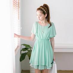 Tokyo Fashion - Flutter-Sleeve Chiffon Dress