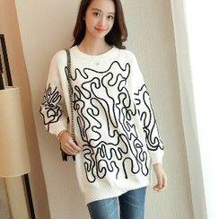 Romantica - Paneled Long Sweater