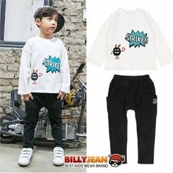 BILLY JEAN - Boys Set: Graphic T-Shirt + Baggy-Fit Pants
