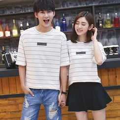 Azure - Couple Matching Striped T-Shirt