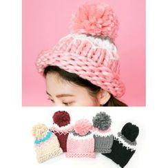 icecream12 - Pompom Chunky-Knit Beanie