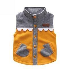 Endymion - Kids Color Panel Scallop Trim Vest