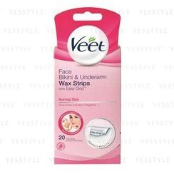 Veet - EasyGrip Ready-to-Use Wax Strips (for Normal Skin) (Face & Underarm)