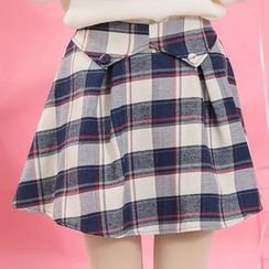 Moriville - Plaid Skirt
