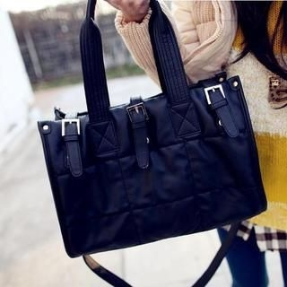 TAIPEI STAR - Faux-Leather Buckled Tote