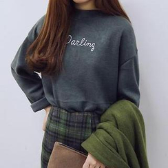 Eva Fashion - Long-Sleeve Letter Embroidered T-Shirt